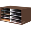 BANKERS BOX® Decorative 8 Compartment Literature Sorter, Letter, Mocha Brown__61303.png