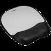 Memory Foam Mouse Pad/Wrist Rest Silver Streak