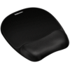 Memory Foam Mouse Pad/Wrist Rest- Black