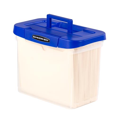 Bankers Box Heavy Duty Portable Plastic File Box BankersBox
