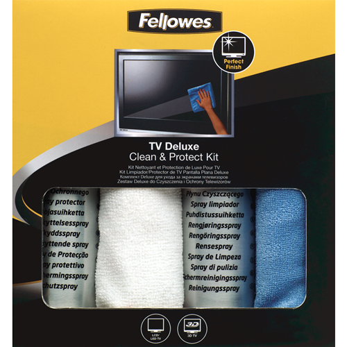 Deluxe Flat Screen Tv Cleaning Protector Kit Fellowes