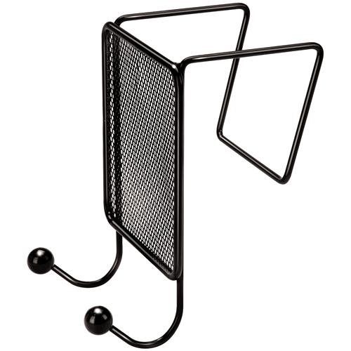 mesh partition additions double coat hook fellowes black cubicle coat hook