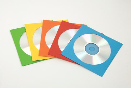 CD Paper Envelopes 50 Pack/ Coloured - Fellowes®