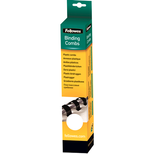 Fellowes 174 12mm Plastic Binding Combs White