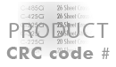 Voer CRC-productcode in