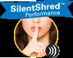 La technologie SilentShred™ réduit les nuisances sonores pendant la destruction notamment pour une utilisation en open space