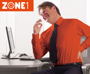 Ergonomic Zone 1 Prevents Workspace Back Pain