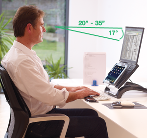 Fellowes Ergonomic Solutions Relieve neck, shoulder and eye strain