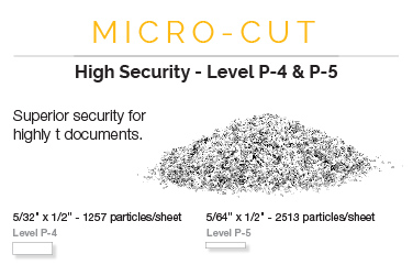 micro cut shredders ultimate security level p 5 - Best Paper Shredder For The Money