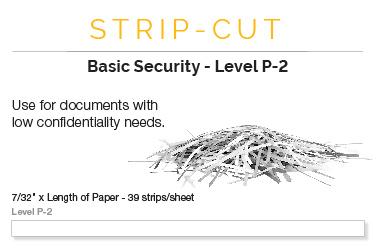 strip cut shredders basic security level p 2 - Paper Shredders Ratings