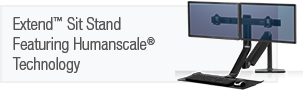 Extend� Sit Stand Featuring Humanscale� Technology
