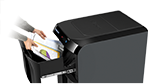 Drawer Document Shredding-Surefeed™ Technology provides automatic paper shredding for maximum productivity
