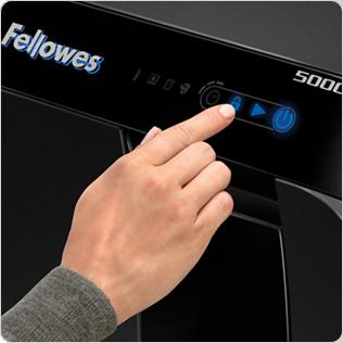 la technologie SmartLock™ : le tiroir à papier se verrouille automatiquement afin d'empêcher l'accès aux documents lors de la destruction et jusqu'à ce que celle-ci soit terminée.