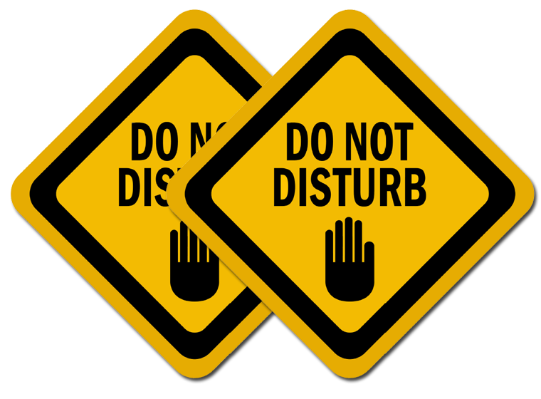 image about Printable Do Not Disturb Signs referred to as Printable - Do Not Disturb - Fellowes®