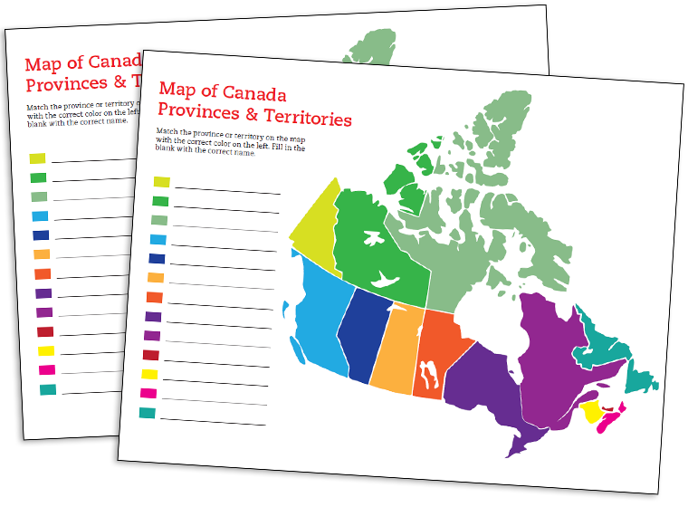 Map Of Canada Template.Printable Canada Map Template Fellowes