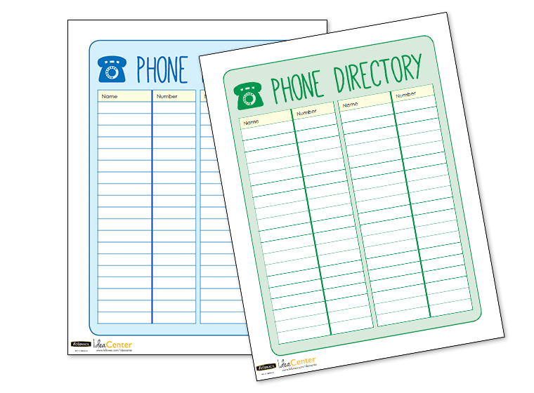 printables phone directory template fellowes
