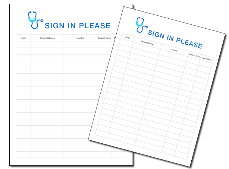 printables sign in sheets for doctors office fellowes