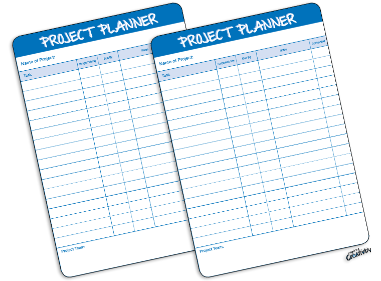 printables project planner template fellowes
