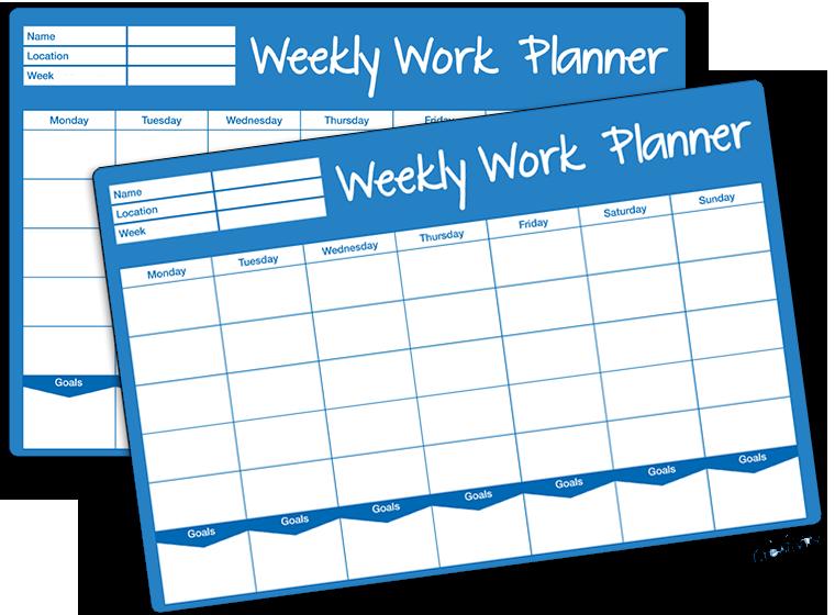 printables weekly work plan template fellowes