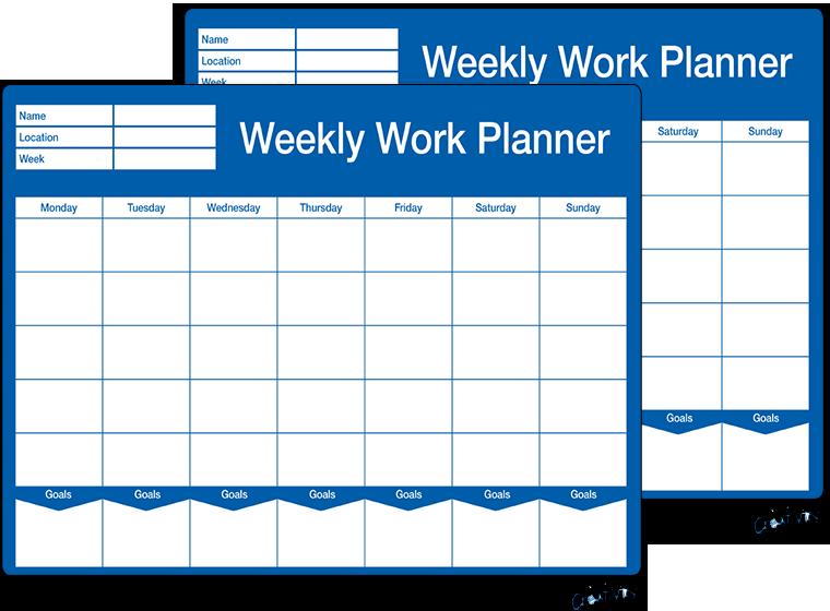 Printable Weekly Work Schedule Template Fellowes
