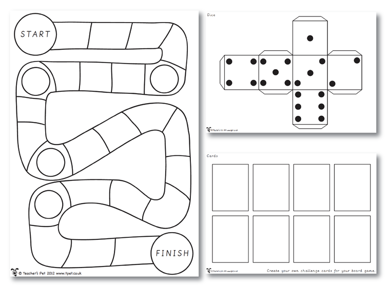 Printables Board Game Template Fellowes