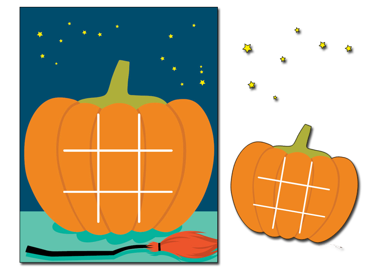 image relating to Printable Tic Tac Toe known as Printable - Pumpkin Tic-Tac-Toe - Fellowes®