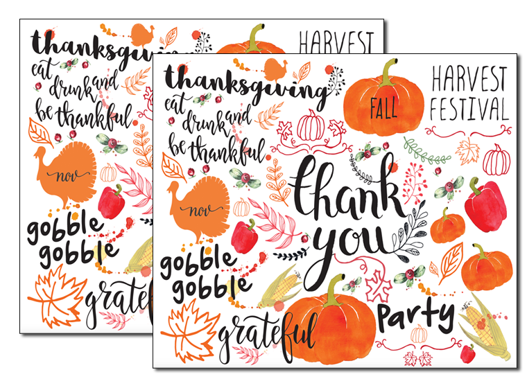 picture relating to Printable Thanksgiving Place Mats known as Printables - Drop Placemats - Fellowes®