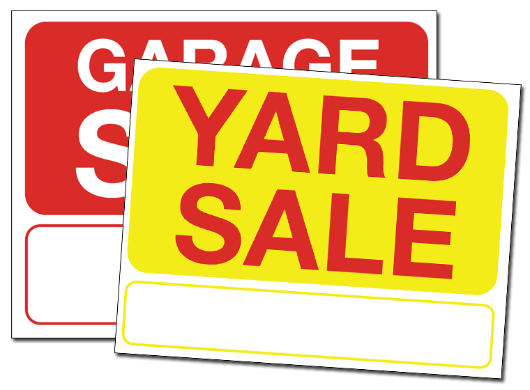 printables yard sale signs template fellowes