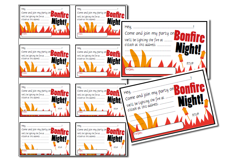 printables bonfire invitations fellowes