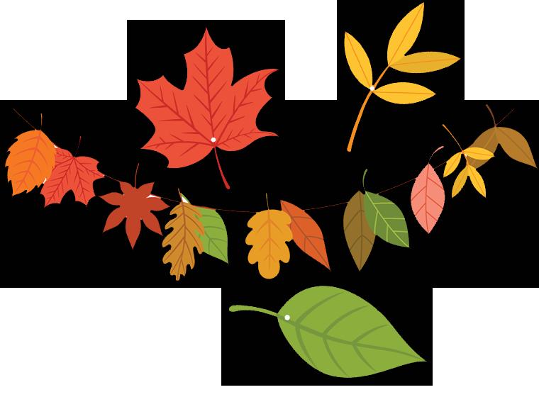 Printable - Fall Leaves Garland - Fellowes®