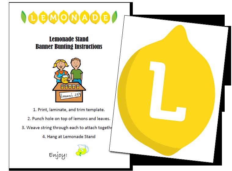 picture regarding Lemonade Signs Printable identify Printable - Lemonade Stand Banner - Fellowes®