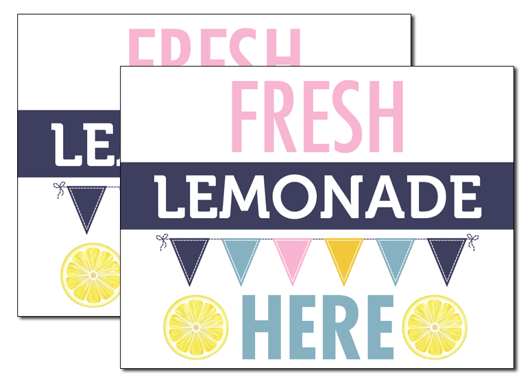 photograph relating to Lemonade Signs Printable called Printable - Lemonade Stand Signs or symptoms - Fellowes®