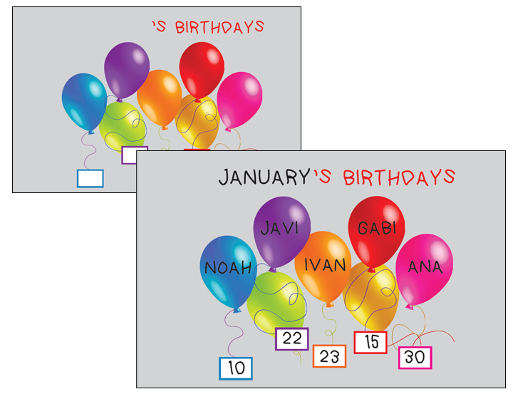 Birthday Chart For Classroom