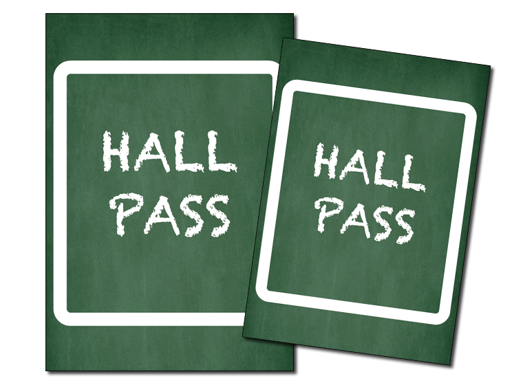 photo about Hall Passes Printable titled Printable - Printable Corridor Pes - Fellowes®