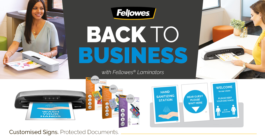 Get back to business with Fellowes Home and Office Products