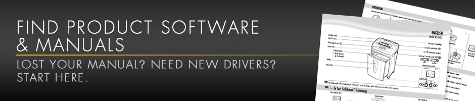Find Product Software and Manuals.  Lsot Your Manual?  Need New Driver? Start Here.