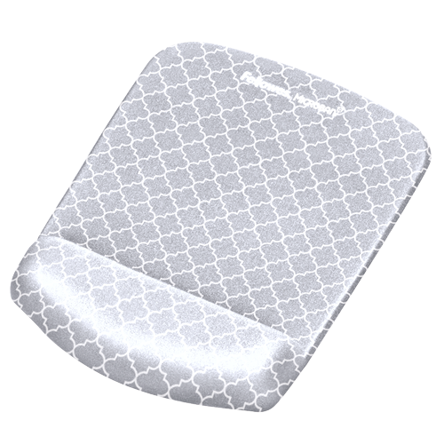 plushtouch mouse pad wrist rest with microban gray lattice