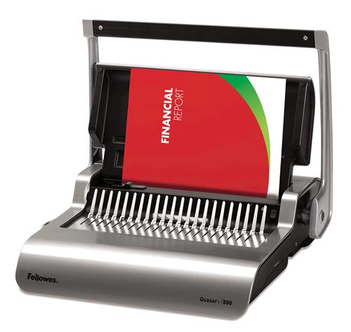 Quasar™+ 500 Comb Binding Machine w/ Starter Kit - Fellowes®