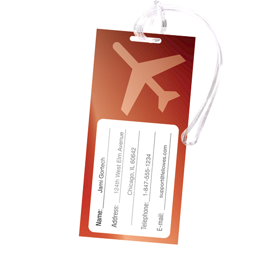 Luggage tag laminating