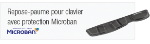 Fellowes Ergonomic Keyboard Palm Support with Microban Protection prevents wrist pressure