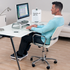 Man Working with I-Spire Home Office Workspace