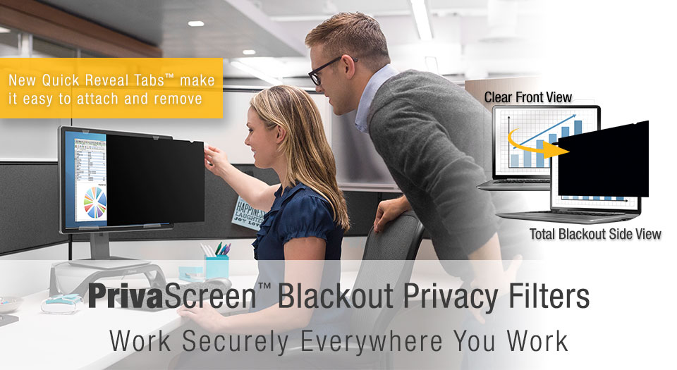 Privascreen Blackout Privacy Filters Fellowes