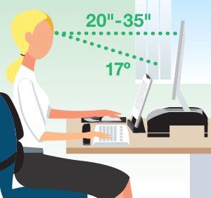 Fellowes Ergonomic Solutions Prevent neck, shoulder and eye strain